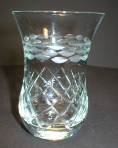 Pretty Little Cut Glass Posey Vase