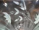 Pretty Rib Optic Cut Flowers Footed Ice Tea Glass