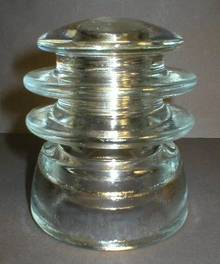 1969 Kerr T.W. 203 Clear Glass Transposition Insulator