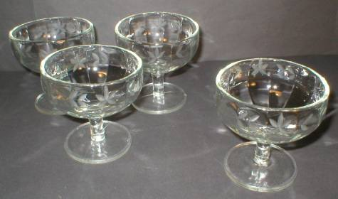 Duncan & Miller Rib Optic Cut Glass Stemmed Sherbert