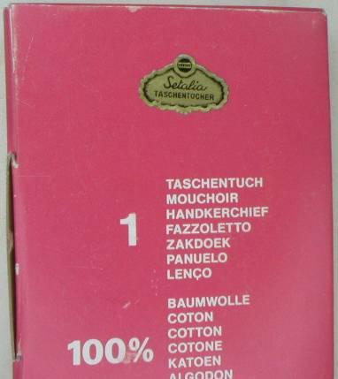 Sweet Vintage Embroidered Posies Handkerchief in Original Box