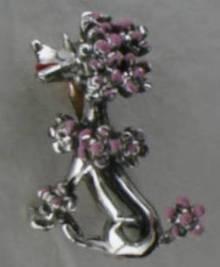 Cute Pink Enamel Poodle Pin