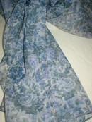 Vintage Blue & Lavender Roses Sheer Scarf