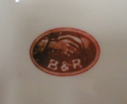 Very Nice B&R Logo Advertising Ashtray