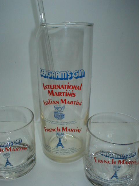 Seagram's Gin International Martini Set