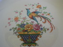 Salem China Bird of Paradise  & Basket of Flowers - Round Serving Bowl