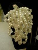Faux Pearl & Crystal Cluster Loop Clip-on Earrings