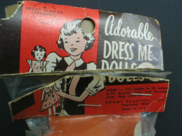 1950's Adorable Dress Me Doll in Orig Package