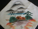 Pretty Oriental Japanese Silk Hand Painted Hankie