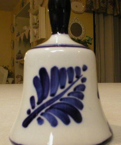 Delfts Blauw Hand Painted Blue & White Windmill Bell