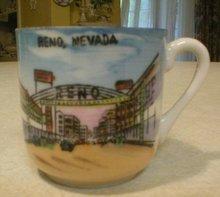1930's Miniature Reno Nevada Souvenir Mug