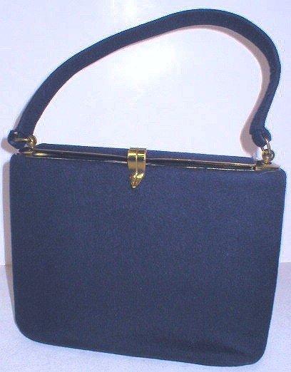 Vintage 1950's Ingber Navy Blue Felt Purse