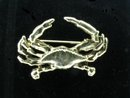Nice Gold Vermeil Cancer Crab Zodiac Pin