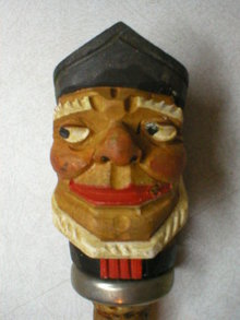 Hand Carved Wooden Sea Captain Pourer Stopper