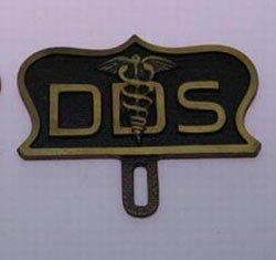Traditional Dentist Plaque / Marker