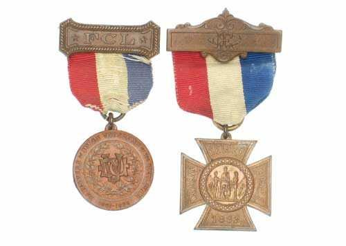 Vintage Women's Masonic  Medals