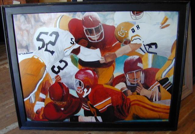 Framed Football Print - Joseph Wahl