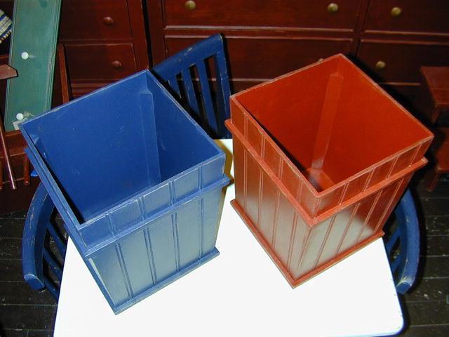 Beadboard Wastebasket