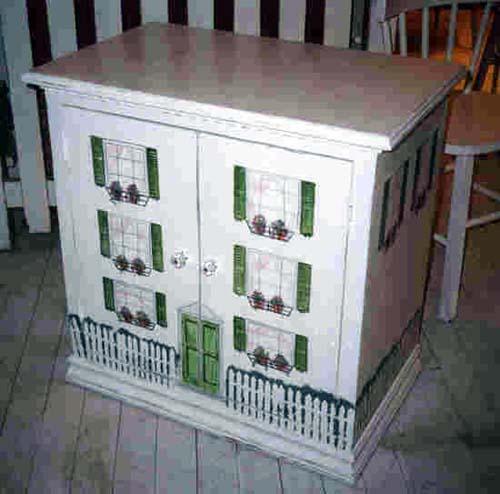 Dollhouse Side Cabinet