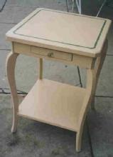 Cabriole Leg Side Table with Shelf