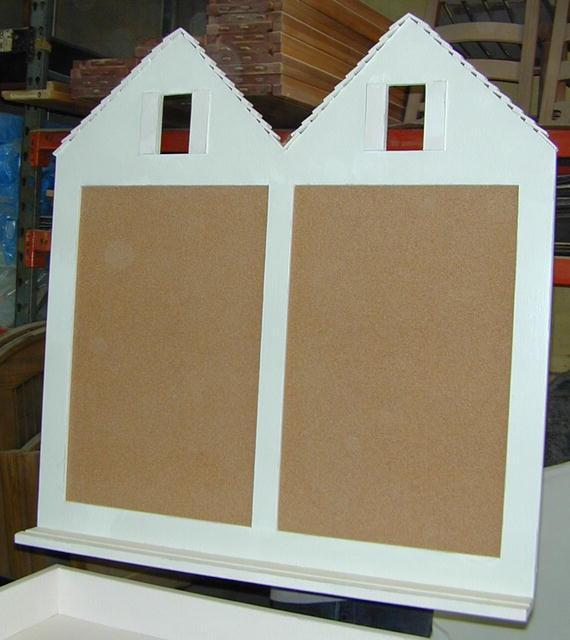 Double House Corkboard and Chalkboard