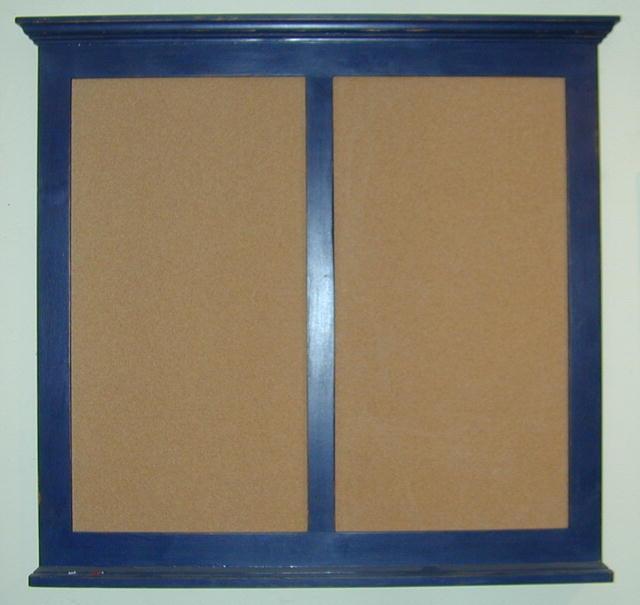 Double Crown Top Corkboard or Chalkboard