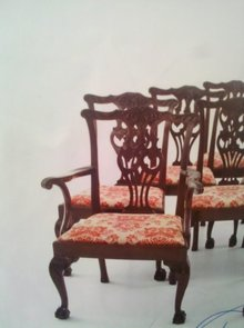 SET OF 8 GEORGE III STYLE MAHOGANY DINING CHAIRS