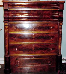 MAHOGANY SCOTTISH CHEST 19TH  CENTURY