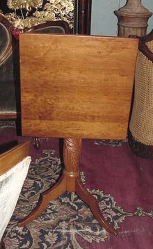 19TH CENTURY CHERRY FLIP TOP CANDLESTAND