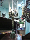 PAIR OF CHARLES X STYLE BRONZE DORE SEVEN LIGHT CANDELABRA