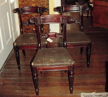 19TH CENTURY SET OF 3 CLASSICAL CHAIRS