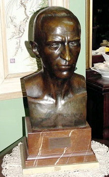 FRENCH SCHOOL BUST; BRONZE MOUNTED ON MARBLE