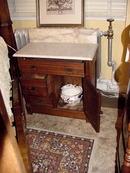 19TH CENTURY WALNUT MARBLE TOP WASHSTAND
