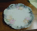 RS PRUSSIA  2 HANDLED PLATE WITH TULIPS