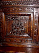19TH CENTURY CONTINENTAL CARVED CARVED CABINET