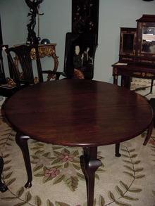 GEORGE III MAHOGANY GATELEG TABLE