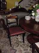 Late 19th Century Side Chairs with Brass Inlay
