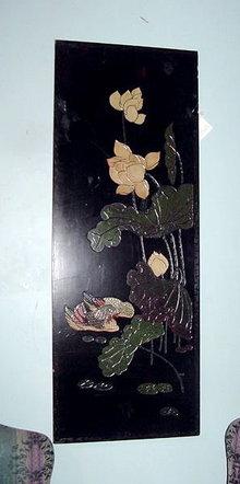 Pair  of Oriental Coromandel Wall Panels