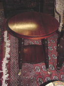 Mahogany Center Table with Ball and Claw Glass Feet