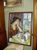 American Oil on Canvas Solitare
