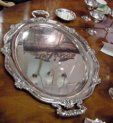 REED & BARTON SILVERPLATE SERVING TRAY