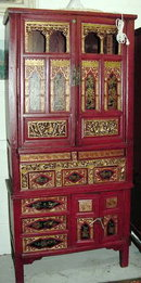 CHINESE CARVED WEDDING CABINET