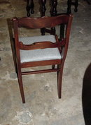 SET OF FOUR CARVED MAHOGANY DINING CHAIRS