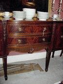 Georgian Style Inlaid Mahogany Serpentine Sideboard