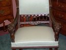 PAIR FRENCH RENAISSANCE CARVED WALNUT ARMCHAIRS