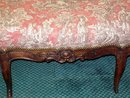 FRENCH PROVINCIAL CARVED WALNUT TRIPLEBACK SETTEE