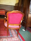 Pair of Louis XV Style Fruitwood Armchairs