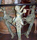 A Neoclassical Style Bronze and Marble Center Table