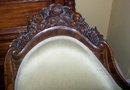 BELTER AMERICAN ROCOCO ROSEWOOD MERDIENNE ROSALIE WITH GRAPES PATTERN