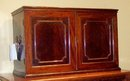 EDWARDIAN MAHOGANY TABLE TOP COLLECTOR'S CABINET